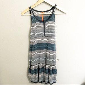 BCBGeneration blue stripe tiered dress size xsmall